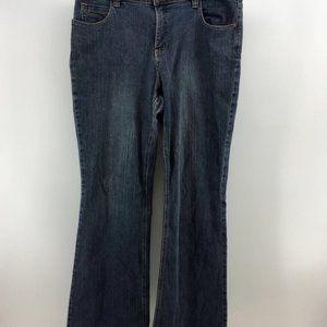 Fashion Bug Womens Boot Cut Jeans Blue Medium Wash